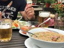 Tradiční slovinské jídlo jsme také ochutnali.