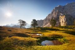 Ráno v triglavském národním parku.